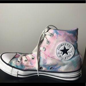 Women's Pastel Converse Hi-top Tennis Shoes-6.5